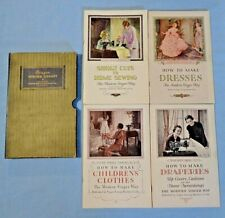 Vtg . Singer Sewing Library Book . 1930 - 34 . 4 Volumes