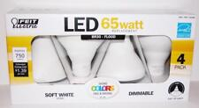 4 PACK FEIT 11.5 Watt BR30 FLOOD LED BULBS Dimmable Replace 65 W SOFT WHITE