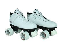 Pacer Gtx-500 Quad Roller Skates White with Labeda Cliff Hanger Wheels Size 01