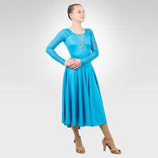 Figure Skating, Ice Dance, Latin Dance, Ballroom, Turquoise  size XSmall Adult