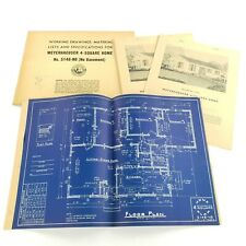 Vintage Architectural Blueprints Mid Century House Residential Drawings Plans #6