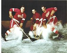 Red Wings Production Line Photo  11 x 14 Photo: Gordie Howe, Ted Linsay,Sid Abel