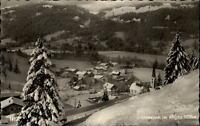 Unterjoch im Allgäu Postkarte 1962 gelaufen Gesamtansicht im Winter Panorama