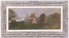 "Robert Scheffer (1859-1934) ""Rendezvous"", Oil/Canvas, ca.1900"