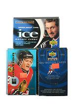 1998 UD Ice/1995-96 Fleer Emotion/ 97-98 UD Diamond Vision Lot of 3 Hockey Packs