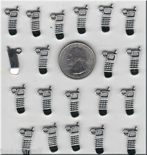 YOU GET 30 SILVER TONE  METAL CELL PHONE CHARMS, - FROM  U.S. SELLER.  - C27