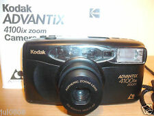 Kodak ADVANTIX 4100IX quarzo data APS Film Camera ~ 30-60MM lente asferica (27M12)