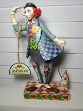 "Jim Shore 2006 Heartwood Creek ""Clown's Best Friend"" #4007674 w/ Dog Figurine"