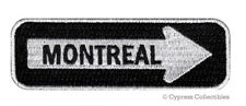 MONTREAL ONE-WAY SIGN EMBROIDERED IRON-ON PATCH applique QUEBEC CANADA SOUVENIR