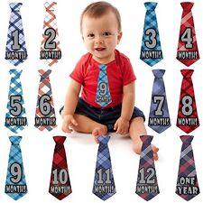 Baby Boy Monthly Necktie Milestone Stickers NEW ties tie Shower gift Months 1-12