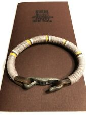 Vintage RUEHL A&F Leather, Cloth, and Metal Bracelet Abercrombie Cuff RARE!!!