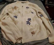 ladies croft barrow sweater size Pl Fall leaves zip up sweater petite