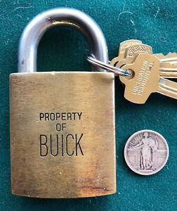 Vintage BEST Logo Padlock BUICK + 2 Operable Keys + Control Key