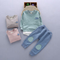Baby toddler clothes boys girls cotton hoodie pullover outfits tops & pants