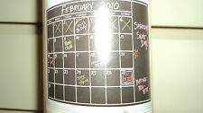 POTTERY BARN TEEN  Chalk Calendar Wall Decal Black Chalk