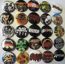 Metal / Thrash Buttons. Pins. Retro 80s. Anthrax Motorhead Metallica Pantera