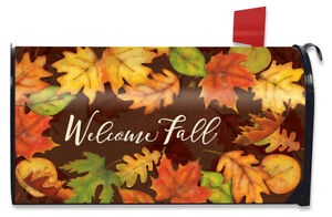 Leaf Toss Fall Large Mailbox Cover Colored Leaves Autumn Oversized