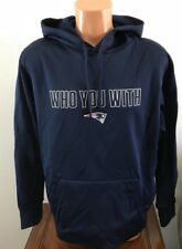 30b9bf5c0 Nike Mens Size M Medium Navy Blue Hoodie NFL New England Patriots  Who You  With