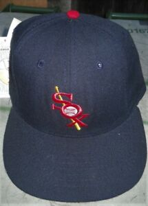 """NEW VINTAGE CHICAGO WHITE SOX WOOL FITTED CAP MEN SZ 7""""  ROMAN USA MADE"""