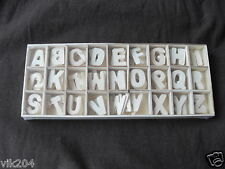 Wooden Machine cut Letters Alphabet A-Z  Uppe Case 2cm 26 x 5 pcs each in tray