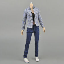 1:6 Female Lattices Shirt & Jeans Women Clothes for 12inch Figures Toys DIY