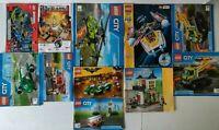 Lego Manuals 11 LOT Creator Houses City Batman Juniors Ramses Pyramid Star Wars