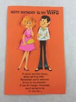 Vintage Wife Birthday Card Age Humor Couple Gibson New Made in USA
