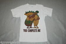 Mens Tee Shirt S/S white funny Taco Hot Sauce Mexican Food Complete Me 42-44 L