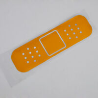 1PC SUVYellowBody Door Fender Funny Bandage Band-Aid Yellow Vinyl Decal Sticker
