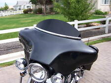 Harley Windshield - 1996-2013 Batwing Touring 6 in Solid Black Windshield