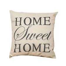 Home Sweet Print Line Cotton Cushion Cover Pillow Case Sofa Hot Gift Car Decor