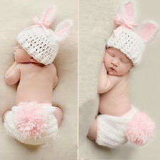 Newborn Baby Boys Girls Hat Crochet Knit Costume Photo Photography Prop Outfit A