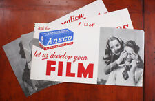 ANSCO LOT OF THREE POSTERS FOR FILM/cks/211576