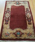 CHINESE ART DECO HAND KNOTTED WOOL VINTAGE ORIENTAL RUG HAND-WASHED 2.6 x 4.6