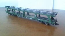 Marklin HO 4 wheel car transporter wagon DB Green.