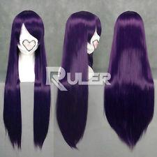 80cm X Long Anime Inu x Boku SS Ririchiyo Shirakiin Purple Cosplay wig COS-036M