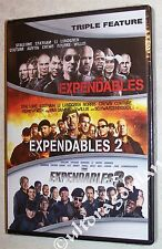 The EXPENDABLES 1, 2 & 3 - DVD 3-Movie Collection Triple Feature 1-3 BRAND NEW