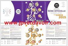 FRANCE BU 8 pièces en Euro 2 0 1 5