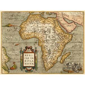 MAP 1584 ORTELIUS AFRICA MAP 12 X 16 INCH ART PRINT POSTER PICTURE HP2016