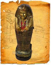 ÄGYPTISCHER SARKOPHAG CD STÄNDER SCHRANK STATUE FIGUR ÄGYPTEN TUTANCHAMUN STATUE