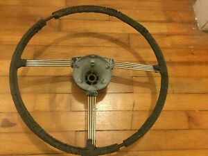 Triumph TR2-TR3 TR3A TR3B Original Steering Wheel needs Restoration