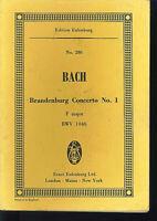 Bach : Brandenburg Concerto No. 1 ~ Studienpartitur
