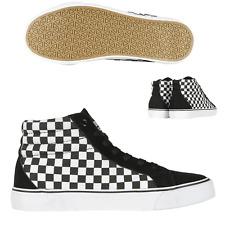 Urban classics Canvas Shoes Trainers Checkered Plaid Black White Emo Punk Skater