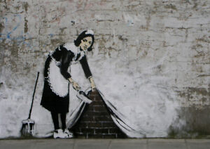 BANKSY CLEANING LADY ART PRINT POSTER