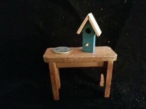 """1:12 scale Dollhouse Miniature~ Tiny Wood Bird House 1-1/4""""   #952"""