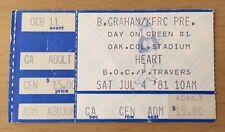 1981 Ozzy Osbourne Day On The Green Oakland Concert Ticket Stub W/ Randy Rhoads