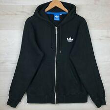 Logotipo de Adidas Originals Trébol Polar Sudadera Con Capucha, Negro, Talle Med, Con Capucha