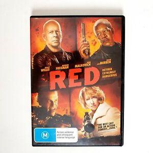 Red Movie DVD Region 4 AUS Free Postage - Action Bruce Willis