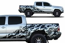 Vinyl Decal NIGHTMARE Wrap for 4D Short Bed Toyota Tacoma TRD Truck 05-15 BLACK