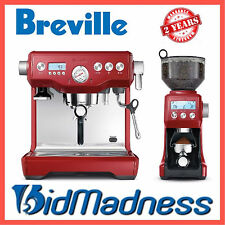 BREVILLE BEP920CRN the DYNAMIC DUO DUAL BOILER COFFEE MACHINE w/ SMART GRINDER